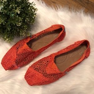 Coral Lace Slip On